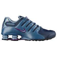 NIKE Shox NZ Women s Running Shoes Size 7 Navy Grey Purple - 636088 400 95e527188