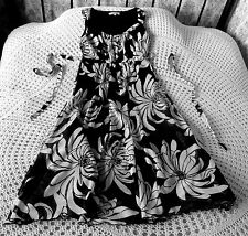 Black & white floral party dress by M & Co Size 8 - 10