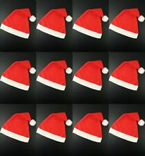 PACK OF 100 FATHER CHRISTMAS RED SANTA HAT XMAS OFFICE PARTY ACCESSORY HATS