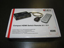Compact HDMI switch 5:1 Remote 3d