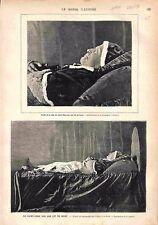 Lit de Mort Saint Père Pape XVIIIe Siècle Saint-Pierre Rome Vatican GRAVURE 1878