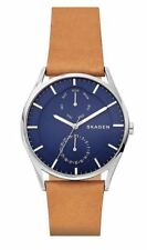 Skagen Men's Holst Tan Leather Strap Watch SKW6369  NEW IN BOX!!