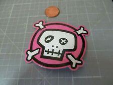PINK SKULL GLOSSY Sticker / Decal Laptop Stickers Skateboard  NEW