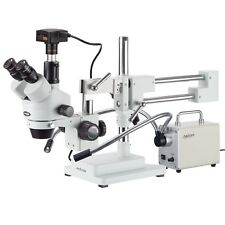 35x 180x Zoom Stereo Microscope Heavy Boom Dual Led 10mp Usb3 Camera