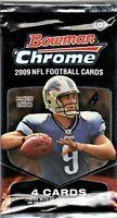1-2009 BOWMAN CHROME NFL ROOKIE CARD AUTO OR HOF/VETERAN AUTO HOBBY HOT PACK