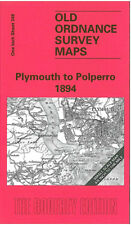 Old Ordnance Survey Map Plymouth to Polperro 1894 - England Sheet 348