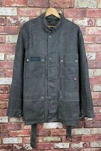 Belstaff Mens Belted Denim Style Linen Jacket Large J61