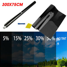 75cm X 3m  Window Tint Film Black Roll 5%-50%  VLT Car Auto Home Glass