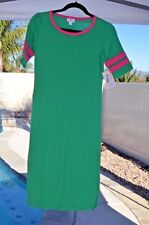 LuLaRoe NEW Julia XS Green with Pink Trim FREE SHIP! NWT!