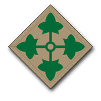 "4th Infantry Patch 5.5"" Sticker / Decal"