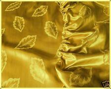Spannbettlaken Glanzsatin Farbe Gold m. Blättermuster Größe 100 cm x 200 cm