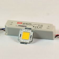 30W Warm White High Power LED Lamp Panel Mean Well AC/DC LED Driver LPC-60-1050
