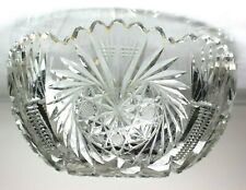 Vintage Cut Glass Serving Bowl from the American Brillian Period