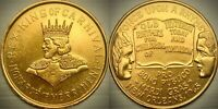 "Beautiful Vintage Golden 1965 REX ""ONCE UPON A RHYME"" Mardi Gras Doubloon - NOLA"