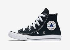 CONVERSE Chuck Taylor All Star Black White Hi Top Shoes Kids Girls Sneaker 3J231