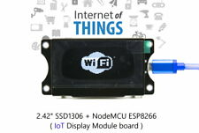 "IoT ESP8266 NodeMCU + 2.42"" OLED display module Board - White"