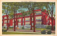 NORWICH, NY  New York           HIGH SCHOOL          c1940's Linen Postcard