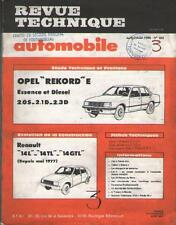 Revue Automobile OPEL Rekord E Essence & Diesel - Renault 14 1977 JUILLET No 402
