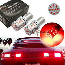 2x No Resistor Required Red 1156 P21W 7507 LED Bulbs For Tail Brake Stop Lights