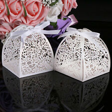 New 10 Pcs Cute Laser Cut Gift Candy Boxes Bonbonniere Wedding Party Favor Gift