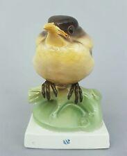 Nymphenburg Vogel Figur, junge Amsel, C. Wittmann, Modell-Nr. 458, H=12,8 cm