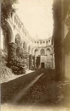 France, Normandie, env. Fécamp, Ruines de Abbaye de Valmont, ca.1880, vintage al