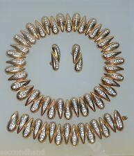 VALENTINO  MADE IN USA    ORIGINAL VINTAGE  NECKLACE BRACELET EARRINGS