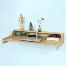 SoBuy® Table murale, table cuisine avec 2 niches de rangement ouverts,FWT47-N,FR