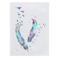 Modern Abstract Watercolour Bird Canvas Print Painting Art Home Wall Decor