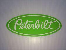 3 Peterbilt Grille Hood Decal Emblems Semi Truck custom stickers Lime Green