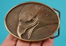 BRONZE THREE-DIMENSIONAL EAGLE STATUE COOL UPSCALE MEN'S BELT BUCKLE GIFT