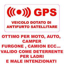 ADESIVO STICKER ANTIFURTO SATELLITARE GPS ROSSO 4 PEZZI BMW SERIE 1 3 5 X1 X3 X4