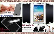 Glas Anti-Spy Tempered Privacy Display Blick Schutz Folie Samsung Galaxy Note 3