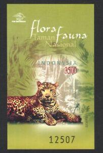 INDONESIA 2002 FLORA & FAUNA NATIONAL PARK LEOPARD SOUVENIR SHEET 1 STAMP MINT