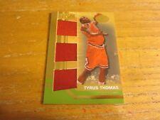 Tyrus Thomas 2007-08 Bowman Elevation Relics Triple Green #TT #'d 4/9 Card Bulls