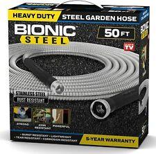 Bionic Steel 50 Foot Garden Hose 304 Stainless Steel Metal Water Hose Super To