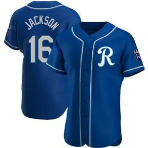 Bo Jackson Kansas City Royals Blue AOP Baseball Jersey S-4XL