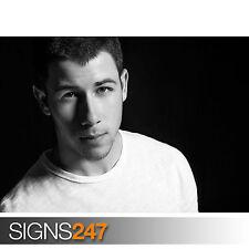 Nick Jonas blanco y negro (2123) Poster-arte cartel impresión Celebridad A1 A2 A3 A4