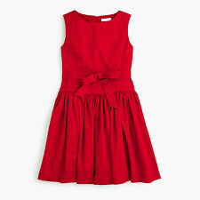 $98 NWT J.Crew Crewcuts Girls' Tie-Waist Dress 4 5 6 7 10 RETAIL