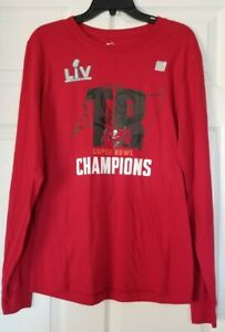 Tampa Bay Buccaneers the NIKE Tee Super Bowl NFL Champions Long Sleeve Shirt