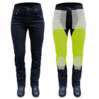 NEW WOMENS BLACK KEVLAR® JEANS MOTORCYCLE REINFORCED WITH DuPont™ SIZE 24