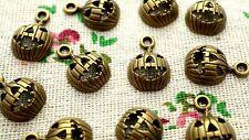 Pumpkin bronze 20 charms halloween jewellery supplies C1308