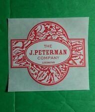 THE J PETERMAN COMPANY LEXINGTON RED WHITE CAR BIKE BOARD SMALL STICKER