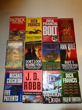 Lot of 12 Mystery Thriller Suspense,Ann Rule,Dick Francis,James Rollins,CrightM3