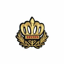 Gold Crown (Iron on) Embroidery Applique Patch Sew Iron Badge