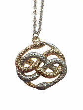 AURYN Necklace Neverending Story Atreyu Infinity Snake Movie Gold Silver Pendant