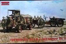 1/72 Roden-británica FWD 3t camión y 8 pulgadas Howitzer-primera guerra mundial-Modelo Kit