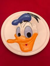 Vintage Donald Duck © Walt Disney Productions Colorful Ceramic Wall Plate 9 Inch