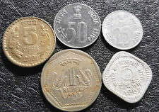 1967-2001 India (Rupee & Paisa) coin, F, 5pcs (plus FREE 1 coin) #D4991