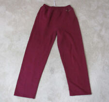 VINTAGE Champion Sweat Pants Adult Large Maroon Red Gray Spell Out Gym Mens 90s
